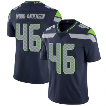 Youth Nike Seattle Seahawks Dominick Wood-Anderson Navy Team Color Vapor Untouchable Jersey - Limited