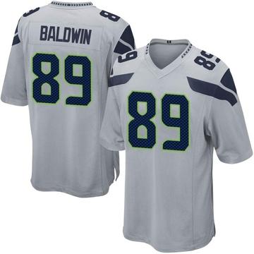 Youth Nike Seattle Seahawks Doug Baldwin Gray Alternate Jersey - Game