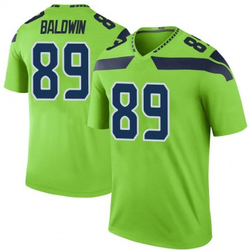 Youth Nike Seattle Seahawks Doug Baldwin Green Color Rush Neon Jersey - Legend