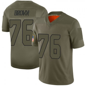 Youth Nike Seattle Seahawks Duane Brown Brown Camo 2019 Salute to Service Jersey - Limited