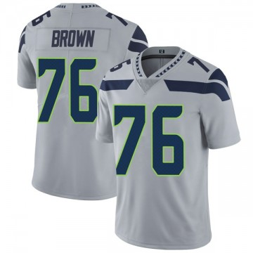 Youth Nike Seattle Seahawks Duane Brown Brown Gray Alternate Vapor Untouchable Jersey - Limited