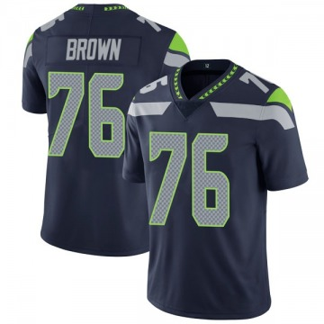 Youth Nike Seattle Seahawks Duane Brown Brown Navy Team Color Vapor Untouchable Jersey - Limited