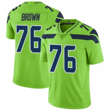 Youth Nike Seattle Seahawks Duane Brown Green Color Rush Neon Jersey - Limited