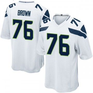 Youth Nike Seattle Seahawks Duane Brown White Jersey - Game