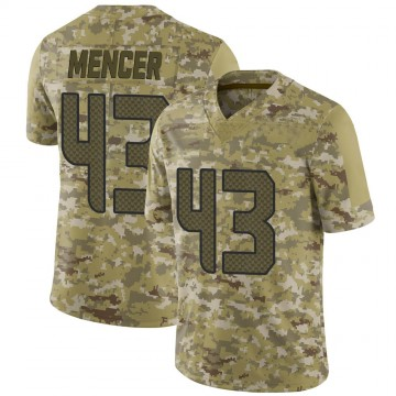 Youth Nike Seattle Seahawks Eli Mencer Camo 2018 Salute to Service Jersey - Limited