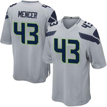 Youth Nike Seattle Seahawks Eli Mencer Gray Alternate Jersey - Game