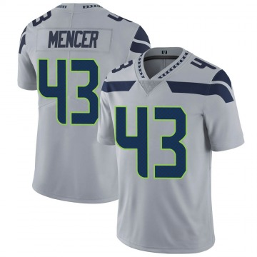 Youth Nike Seattle Seahawks Eli Mencer Gray Alternate Vapor Untouchable Jersey - Limited