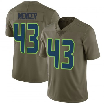 Youth Nike Seattle Seahawks Eli Mencer Green 2017 Salute to Service Jersey - Limited