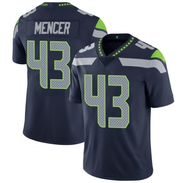 Youth Nike Seattle Seahawks Eli Mencer Navy 100th Vapor Jersey - Limited
