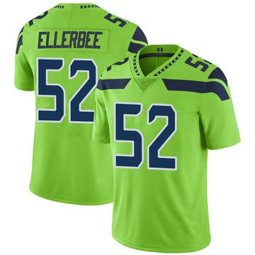 Youth Nike Seattle Seahawks Emmanuel Ellerbee Green Color Rush Neon Jersey - Limited