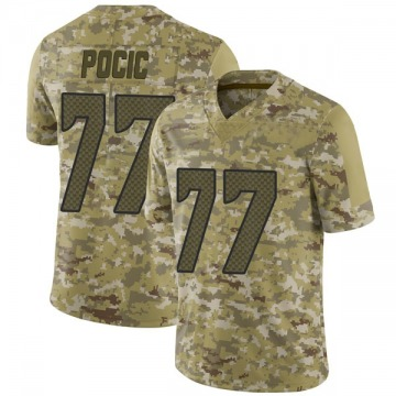 Youth Nike Seattle Seahawks Ethan Pocic Camo 2018 Salute to Service Jersey - Limited
