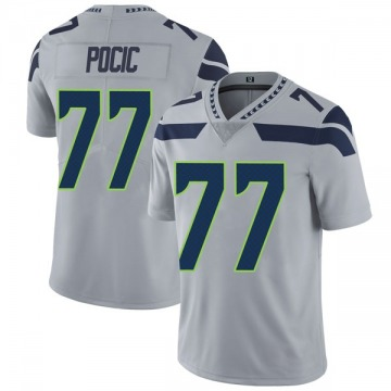 Youth Nike Seattle Seahawks Ethan Pocic Gray Alternate Vapor Untouchable Jersey - Limited