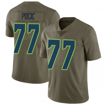 Youth Nike Seattle Seahawks Ethan Pocic Green 2017 Salute to Service Jersey - Limited
