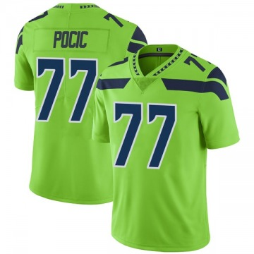 Youth Nike Seattle Seahawks Ethan Pocic Green Color Rush Neon Jersey - Limited