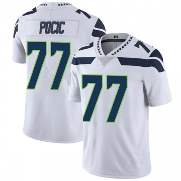 Youth Nike Seattle Seahawks Ethan Pocic White Vapor Untouchable Jersey - Limited