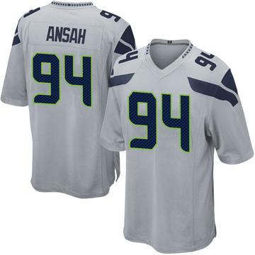 Youth Nike Seattle Seahawks Ezekiel Ansah Gray Alternate Jersey - Game