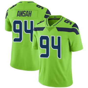 Youth Nike Seattle Seahawks Ezekiel Ansah Green Color Rush Neon Jersey - Limited