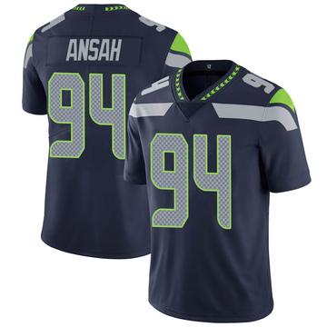 Youth Nike Seattle Seahawks Ezekiel Ansah Navy 100th Vapor Jersey - Limited