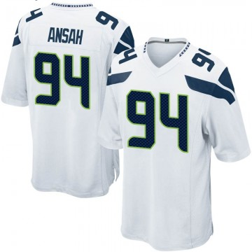 Youth Nike Seattle Seahawks Ezekiel Ansah White Jersey - Game
