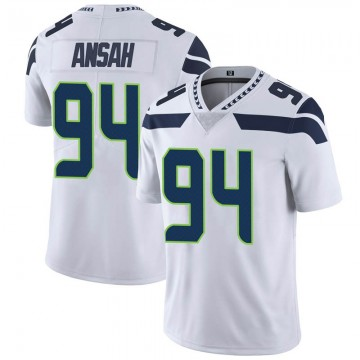 Youth Nike Seattle Seahawks Ezekiel Ansah White Vapor Untouchable Jersey - Limited