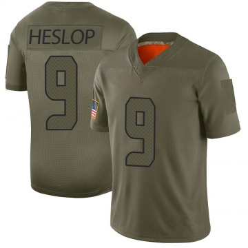 Youth Nike Seattle Seahawks Gavin Heslop Camo 2019 Salute to Service Jersey - Limited