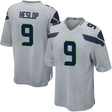 Youth Nike Seattle Seahawks Gavin Heslop Gray Alternate Jersey - Game