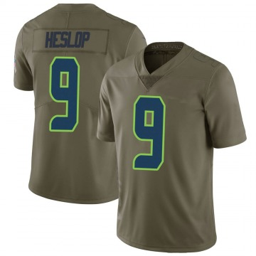 Youth Nike Seattle Seahawks Gavin Heslop Green 2017 Salute to Service Jersey - Limited