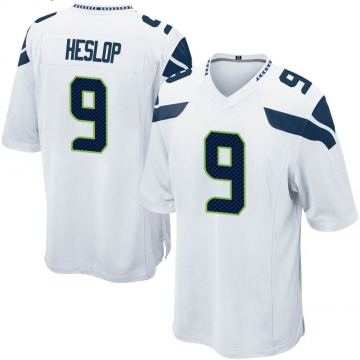 Youth Nike Seattle Seahawks Gavin Heslop White Jersey - Game