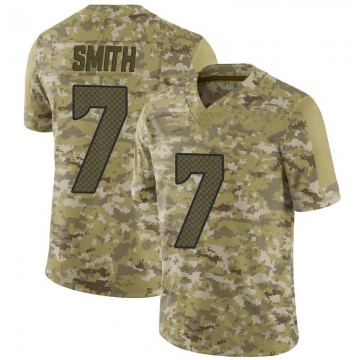 Youth Nike Seattle Seahawks Geno Smith Camo 2018 Salute to Service Jersey - Limited