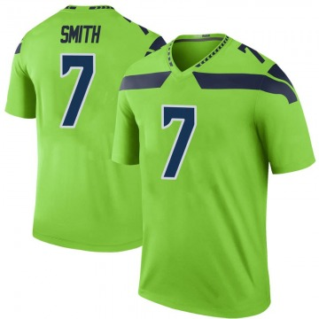 Youth Nike Seattle Seahawks Geno Smith Green Color Rush Neon Jersey - Legend