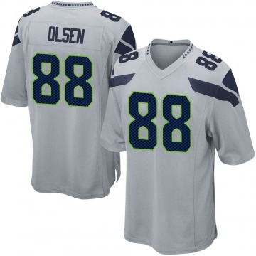Youth Nike Seattle Seahawks Greg Olsen Gray Alternate Jersey - Game
