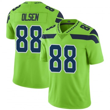 Youth Nike Seattle Seahawks Greg Olsen Green Color Rush Neon Jersey - Limited