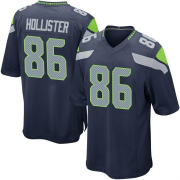 Youth Nike Seattle Seahawks Jacob Hollister Navy Team Color Jersey - Game
