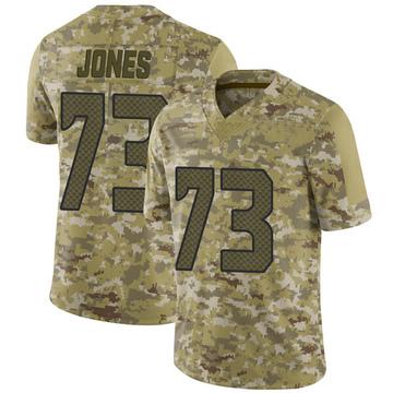 Youth Nike Seattle Seahawks Jamarco Jones Camo 2018 Salute to Service Jersey - Limited