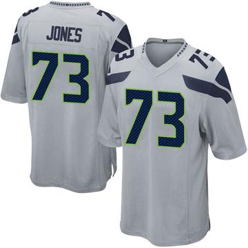Youth Nike Seattle Seahawks Jamarco Jones Gray Alternate Jersey - Game