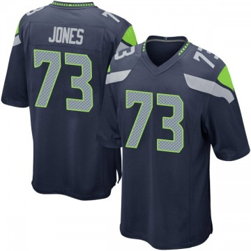 Youth Nike Seattle Seahawks Jamarco Jones Navy Team Color Jersey - Game