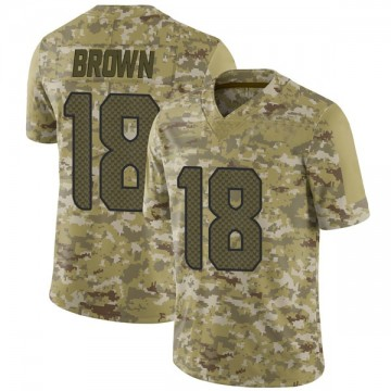 Youth Nike Seattle Seahawks Jaron Brown Brown Camo 2018 Salute to Service Jersey - Limited
