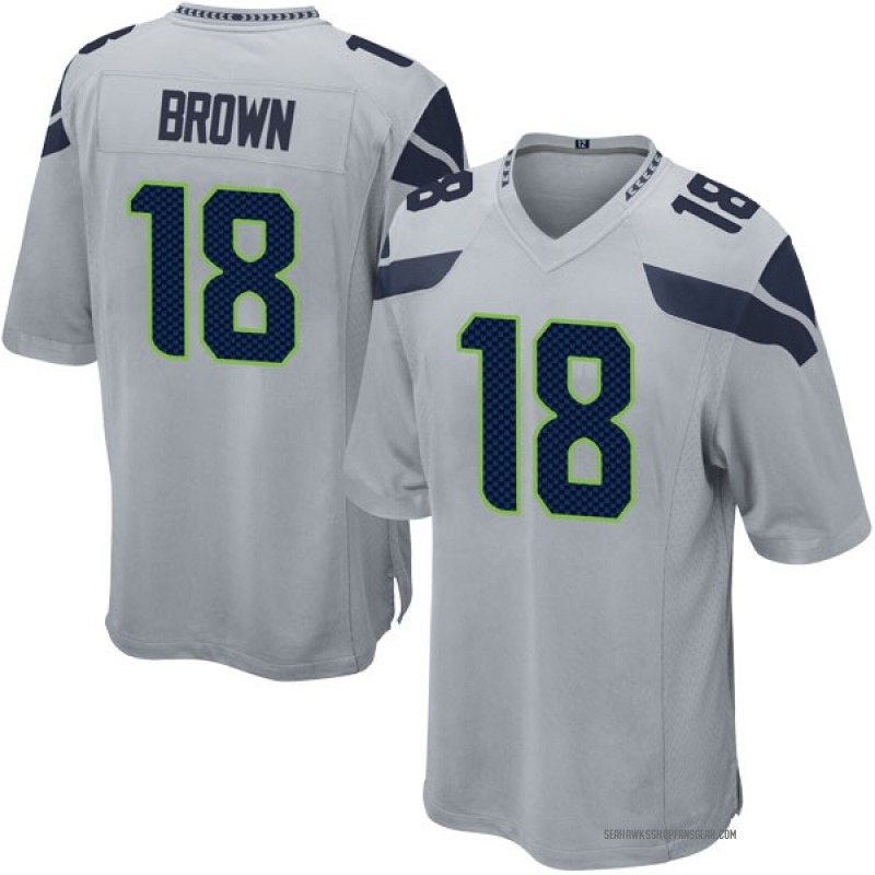 huge selection of 22afd 1a2f1 Youth Nike Seattle Seahawks Jaron Brown Brown Gray Alternate Jersey - Game