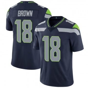 Youth Nike Seattle Seahawks Jaron Brown Brown Navy 100th Vapor Jersey - Limited