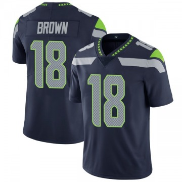 Youth Nike Seattle Seahawks Jaron Brown Brown Navy Team Color Vapor Untouchable Jersey - Limited