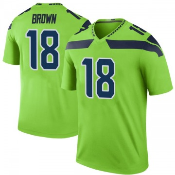 Youth Nike Seattle Seahawks Jaron Brown Green Color Rush Neon Jersey - Legend
