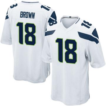 Youth Nike Seattle Seahawks Jaron Brown White Jersey - Game