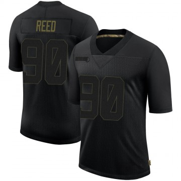 Youth Nike Seattle Seahawks Jarran Reed Black 2020 Salute To Service Jersey - Limited