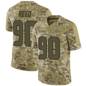 Youth Nike Seattle Seahawks Jarran Reed Camo 2018 Salute to Service Jersey - Limited