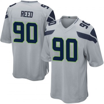 Youth Nike Seattle Seahawks Jarran Reed Gray Alternate Jersey - Game