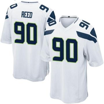 Youth Nike Seattle Seahawks Jarran Reed White Jersey - Game