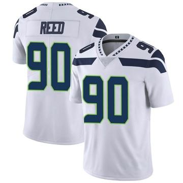 Youth Nike Seattle Seahawks Jarran Reed White Vapor Untouchable Jersey - Limited