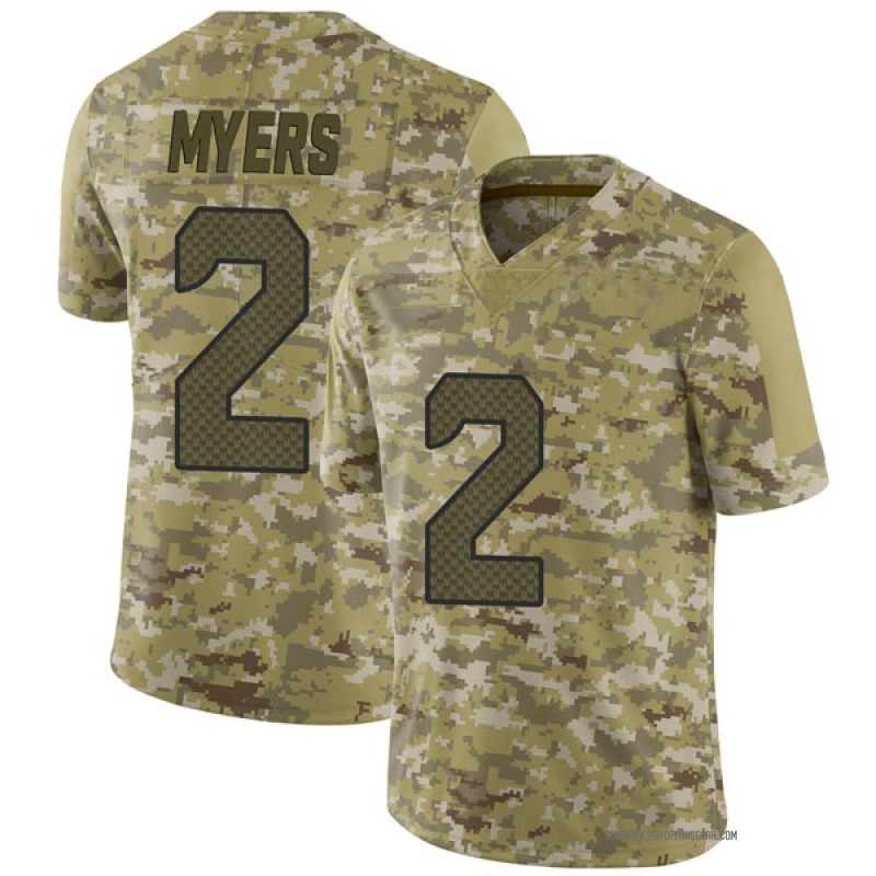 official photos bffbf f2c17 Youth Nike Seattle Seahawks Jason Myers Camo 2018 Salute to Service Jersey  - Limited