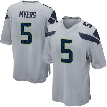 Youth Nike Seattle Seahawks Jason Myers Gray Alternate Jersey - Game