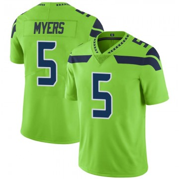Youth Nike Seattle Seahawks Jason Myers Green Color Rush Neon Jersey - Limited